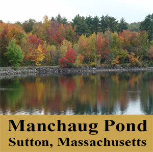 Manchaug Pond Sutton Massachusetts Foliage