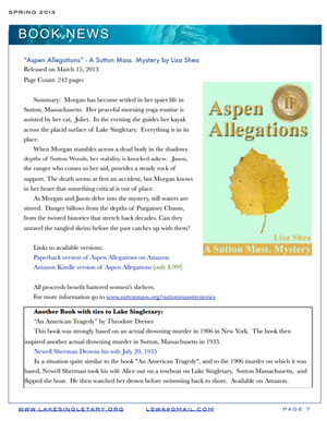 Aspen Allegations Featured in Lake Singletary Newsletter