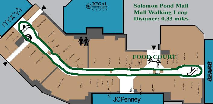 Solomon Pond Mall Map Solomon Pond Mall Walking